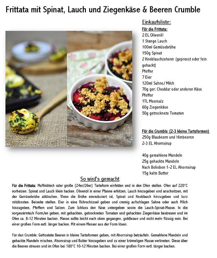 Frittata mit Spinat, Lauch und Ziegenkaese & Beeren Crumble-001