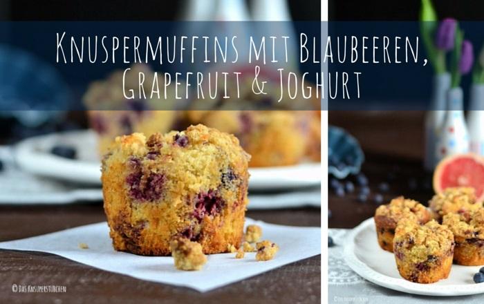 Muffins mit Blaubeeren, Grapefruit & Joghurt