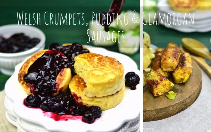 Welsh Crumpets, Pudding & Glamorgan Sausages