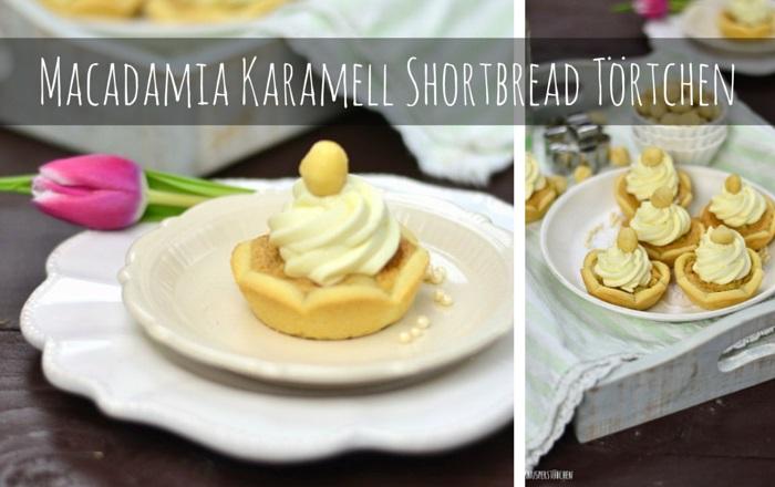 Macadamia Karamell Shortbread Törtchen