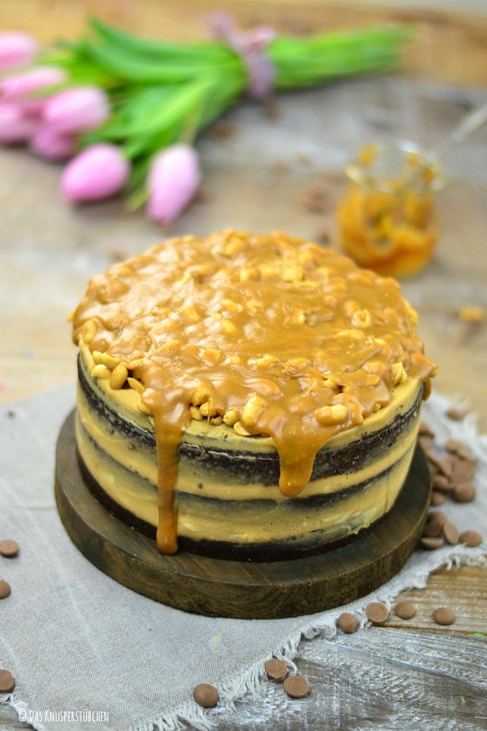Erdnuss Karamell Schoko Torte-1