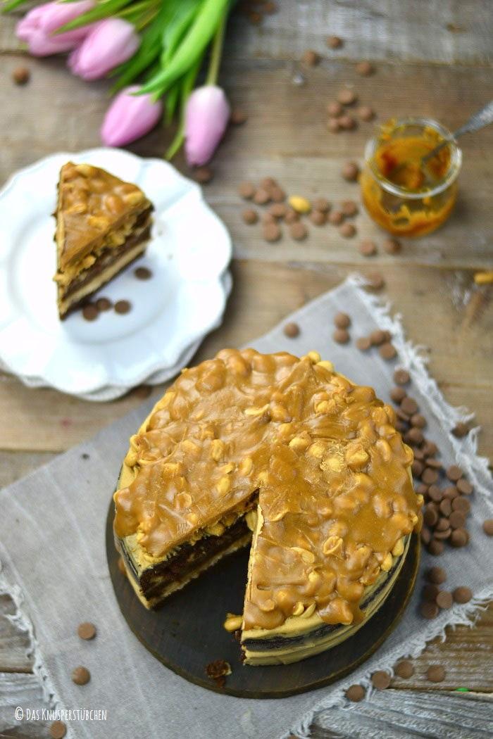 Erdnuss Karamell Schoko Torte 10-1