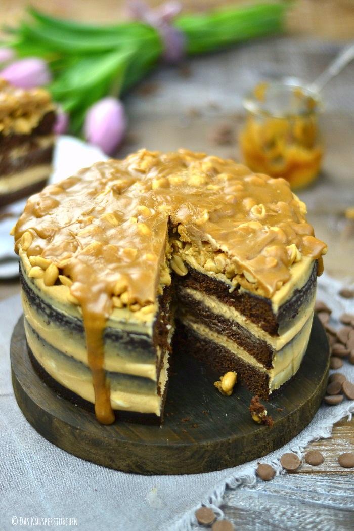 Erdnuss Karamell Schoko Torte 7-2