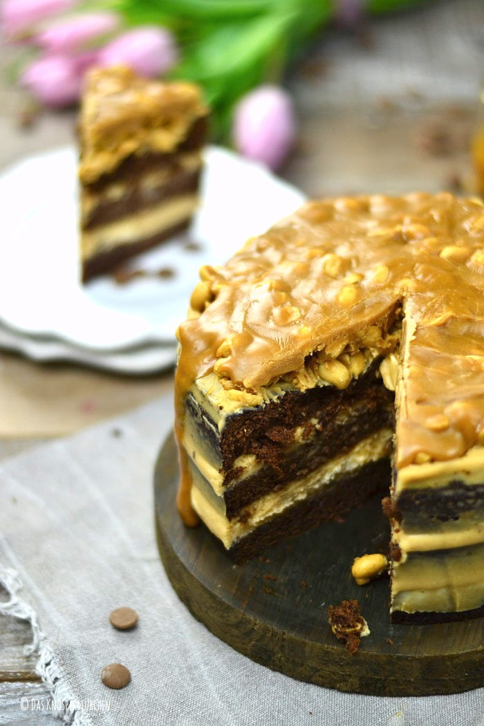 Erdnuss Karamell Schoko Torte 9-1