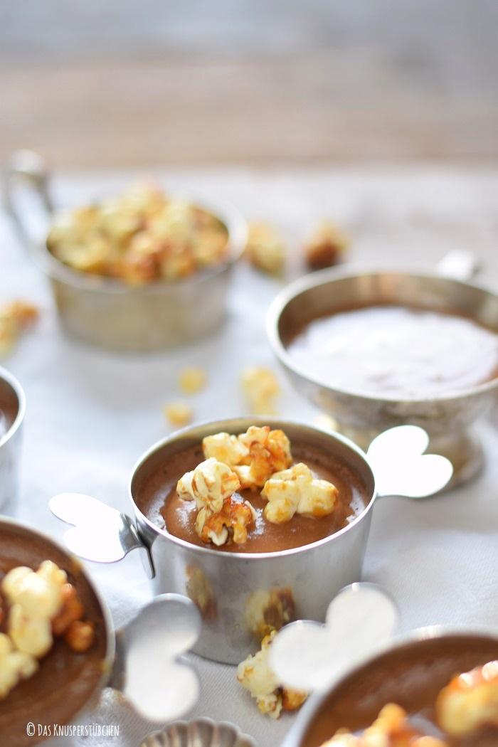 Schoko Mousse Pudding Toffee und Karamell Popcorn 12-1