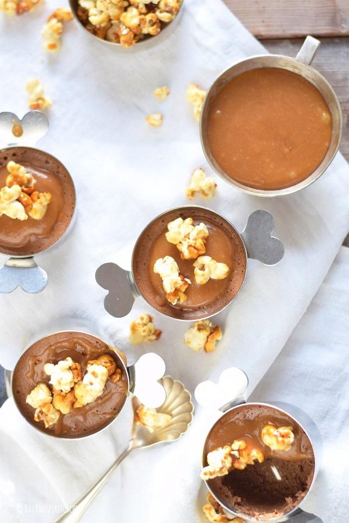 Schoko Mousse Pudding Toffee und Karamell Popcorn 15-1