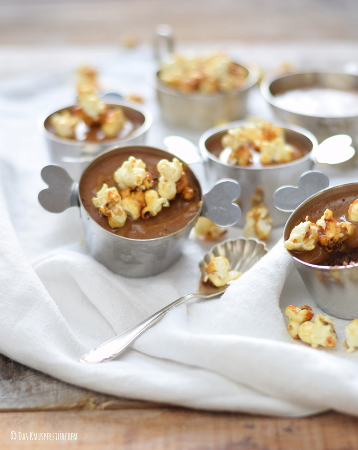 Schoko Mousse Pudding Toffee und Karamell Popcorn 6-1