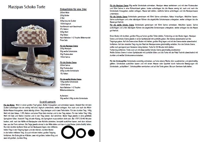 eine mustertorte marzipan schokolade torte das knusperst bchen. Black Bedroom Furniture Sets. Home Design Ideas