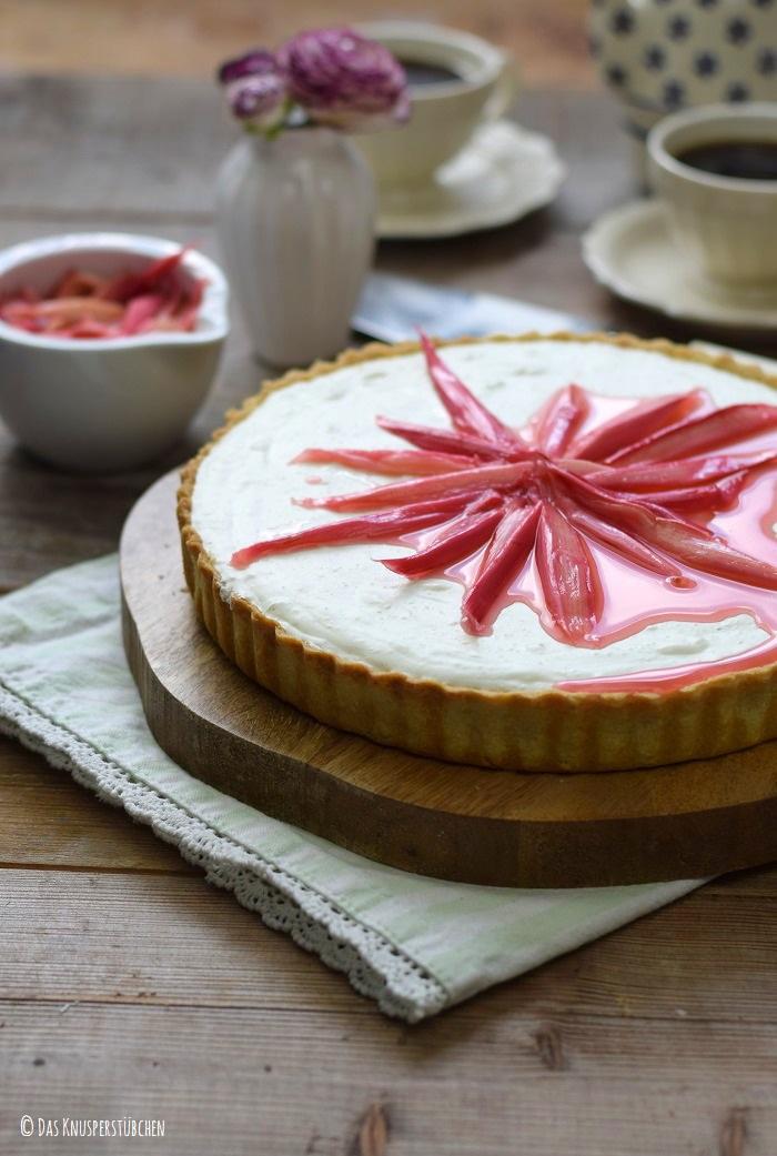 Roasted Rhubarb Tarte