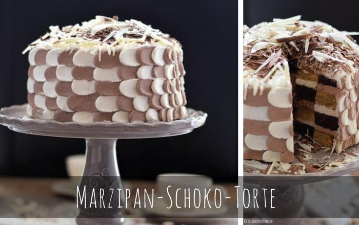 Marzipan-Schoko-Torte – Eine Mustertorte