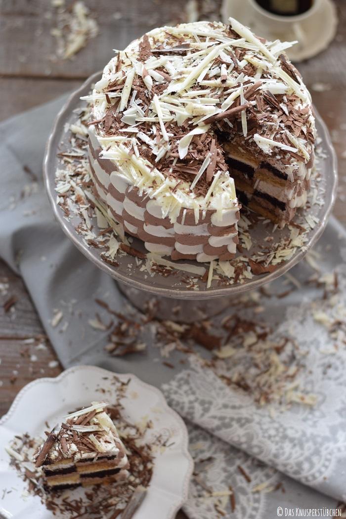 Schokolade Marzipan Schachbrett Torte 21