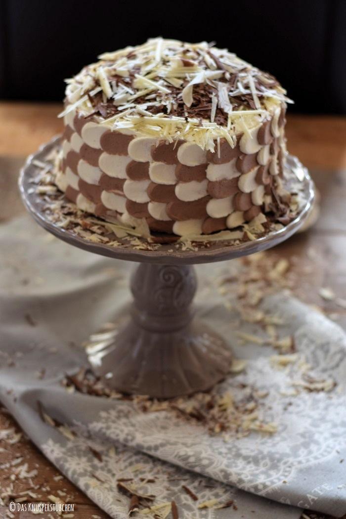 Schokolade Marzipan Schachbrett Torte 5