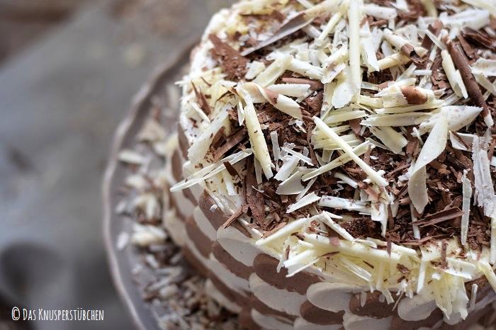 Schokolade Marzipan Schachbrett Torte 8