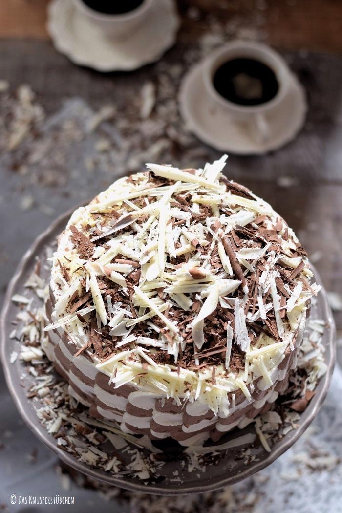 Schokolade Marzipan Schachbrett Torte 9