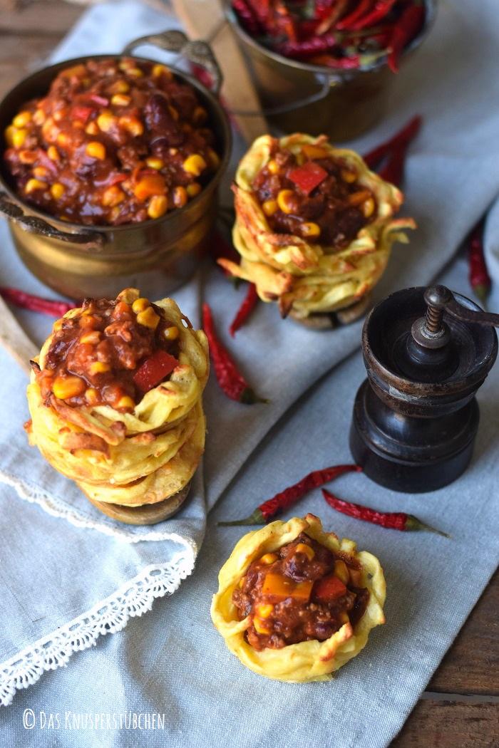 Spaetzle Chili Con Carne Cups 4
