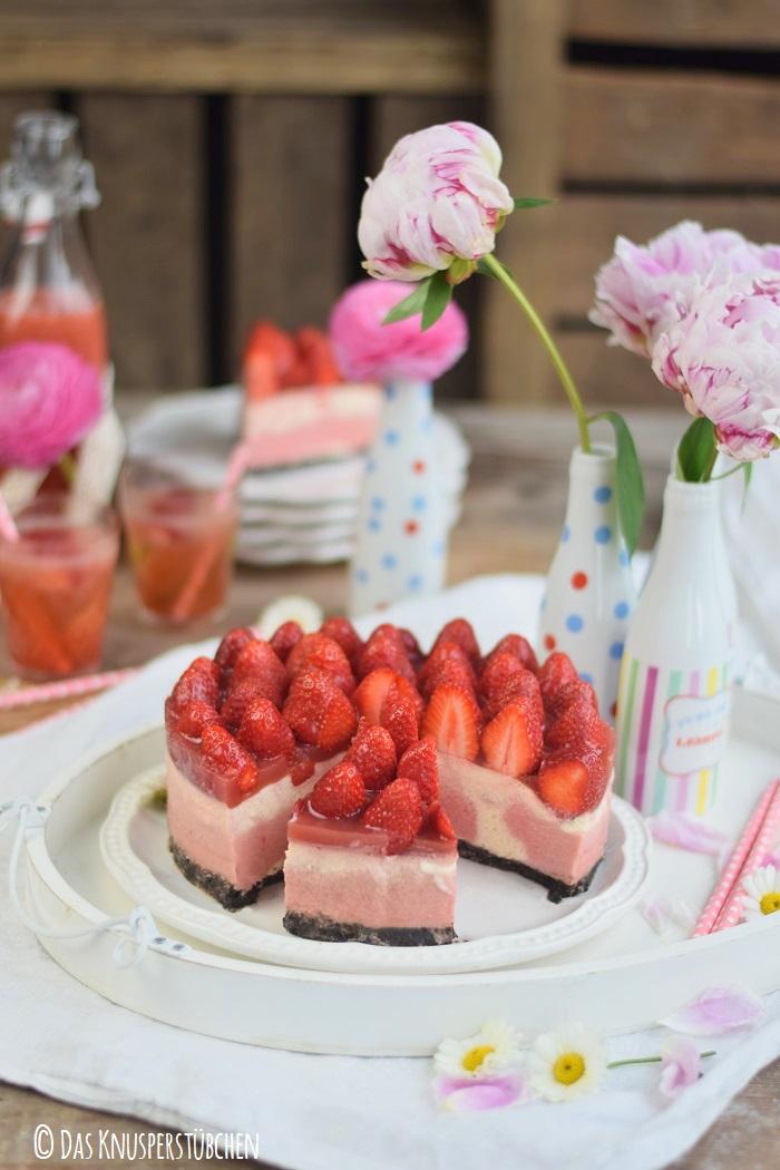 Erdbeer Katamell Cheesecake 12