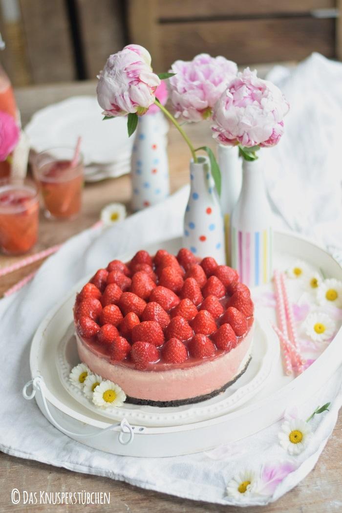 Erdbeer Katamell Cheesecake