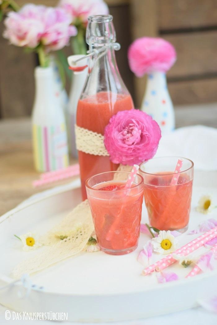 Erdbeer Limetten Drink