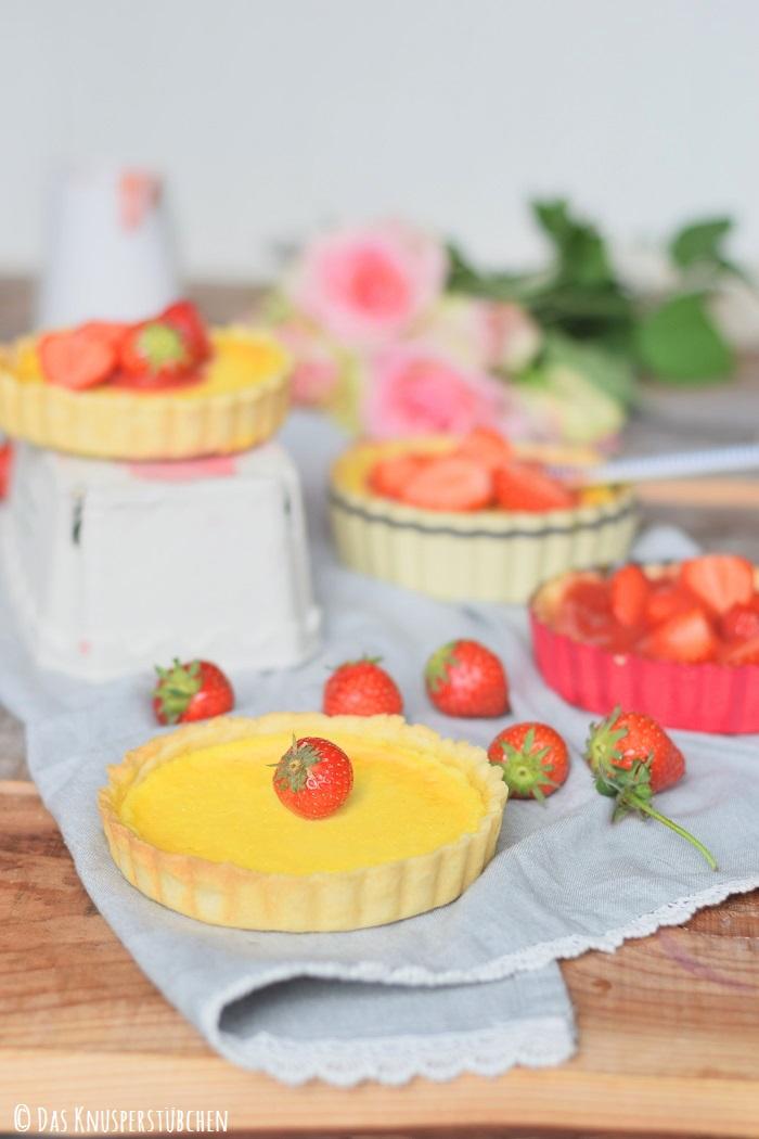 Erdbeer Pudding Tartelette 4