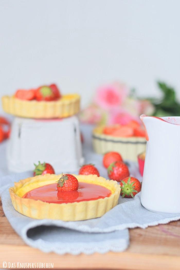 Erdbeer Pudding Tartelette 8
