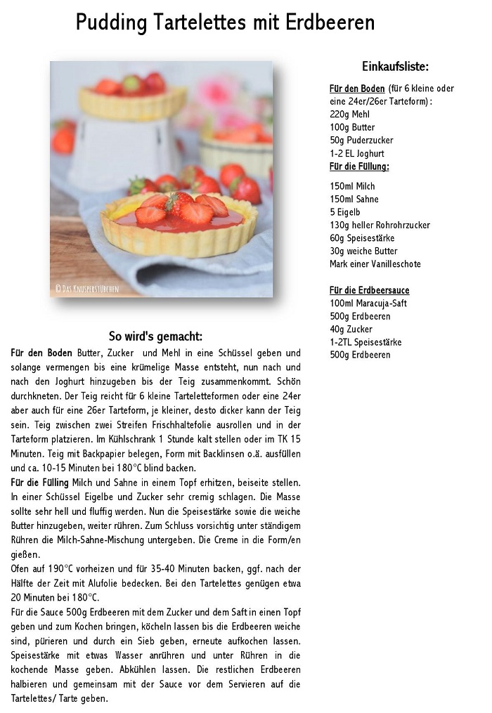 Pudding Tartelettes mit Erdbeeren-001