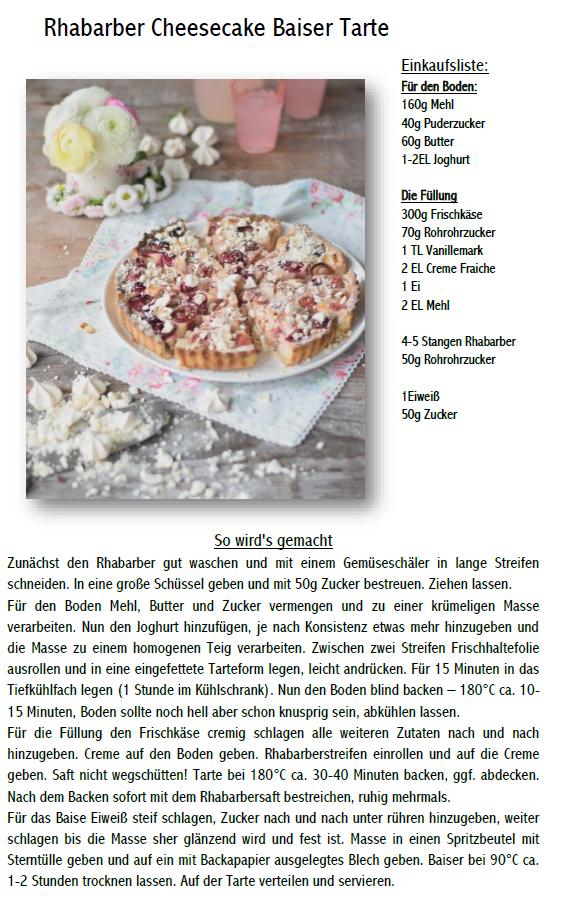 Rhabarber Cheesecake Baiser Tarte
