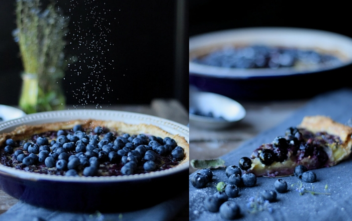 Blaubeer Clafoutis Tarte