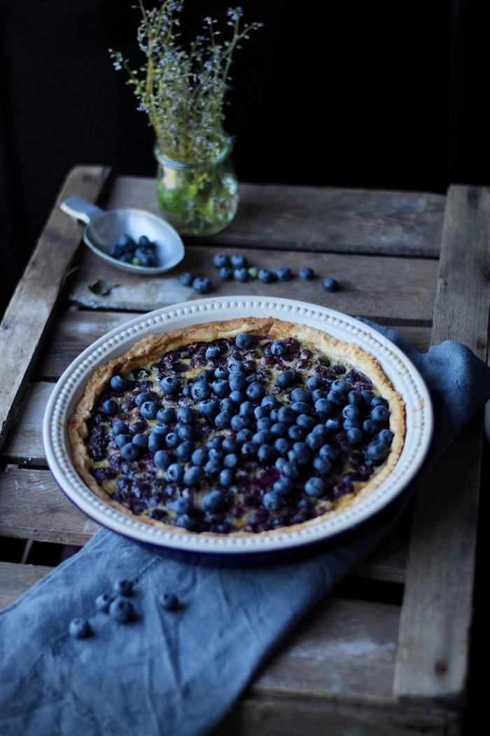 Blaubeer Clafoutis Tarte 3