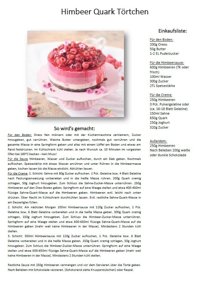Himbeer Quark Torte