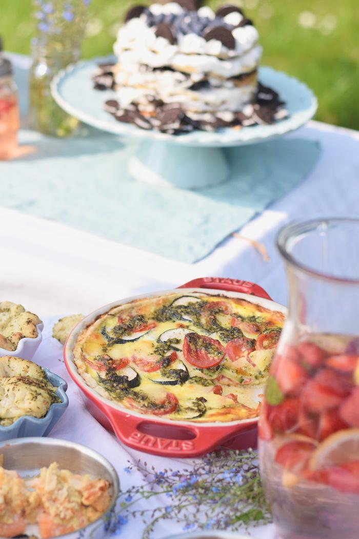 Sommer Quiche mit Pesto 3
