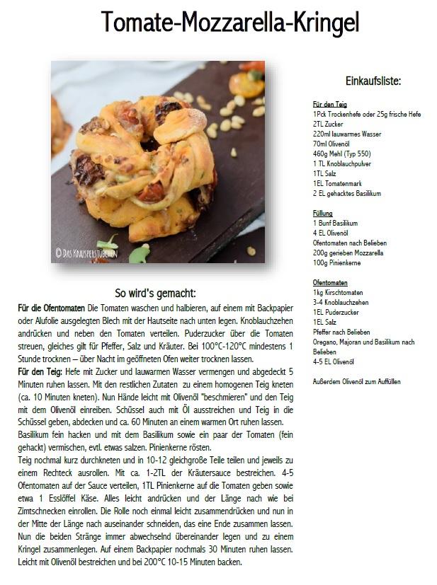 Tomate-Mozzarella-Kringel Rezept