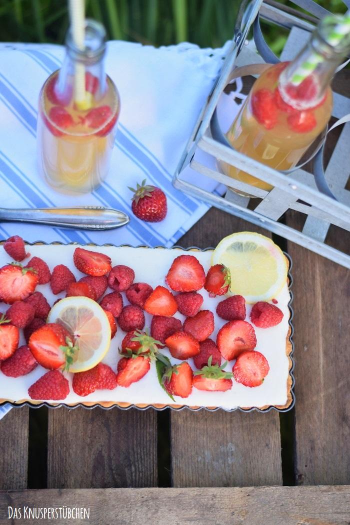 Zitronentarte mit Beeren 11