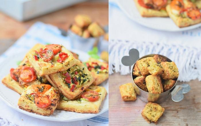 Blätterteig-Snack mit Tomaten