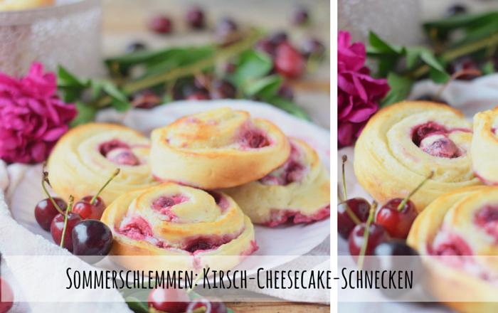 Kirsch-Cheesecake-Schnecken