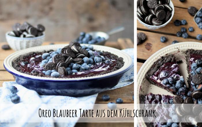 Oreo Blaubeer Tarte aus dem Kühlschrank: Eine Tarte ohne Backen