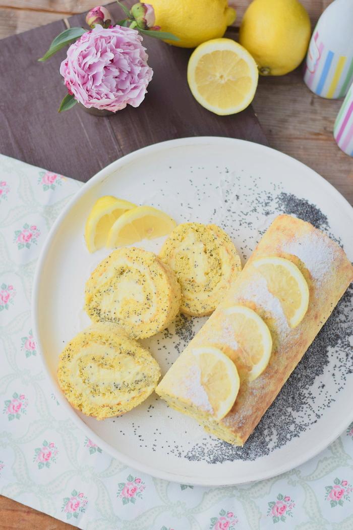 Zitronen Rolle Lemon Poppy Seed Roulade 10