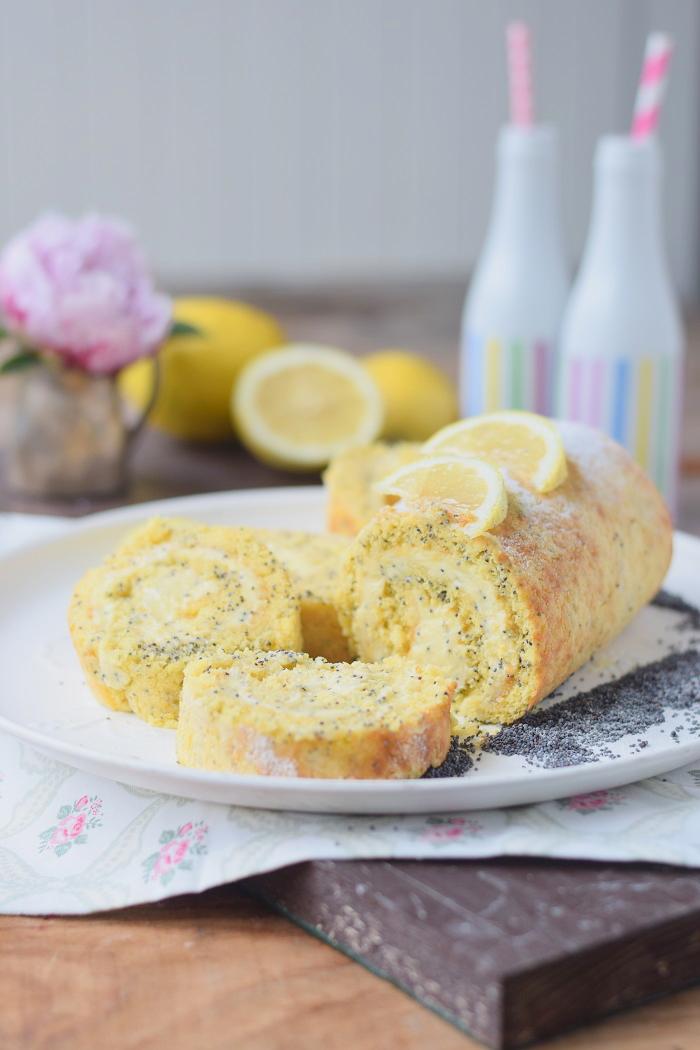 Zitronen Rolle Lemon Poppy Seed Roulade 18