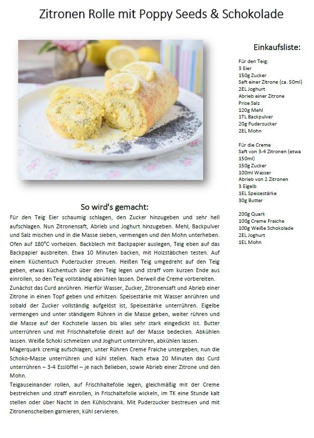 Zitronen Rolle Lemon Poppy Seed Roulade Rezept