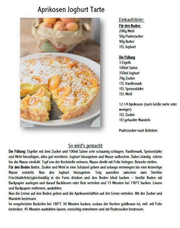Aprikosen Joghurt Tarte Rezept