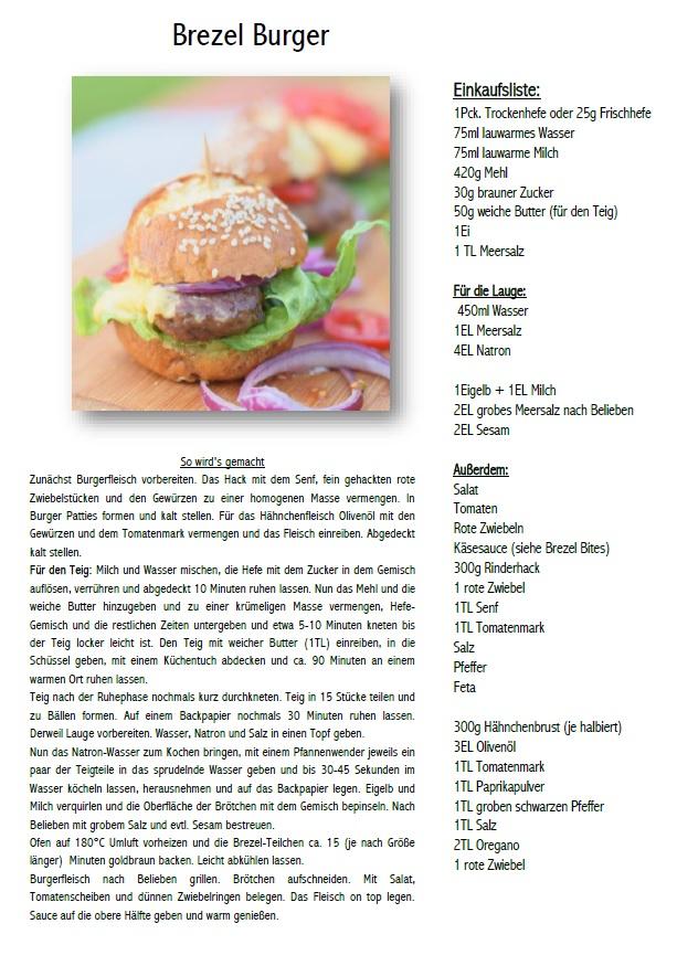 Brezel Burger Rezept
