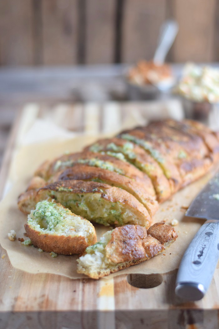 Ciabatta Baguette mit Knoblauch Kräuter Butter (12)