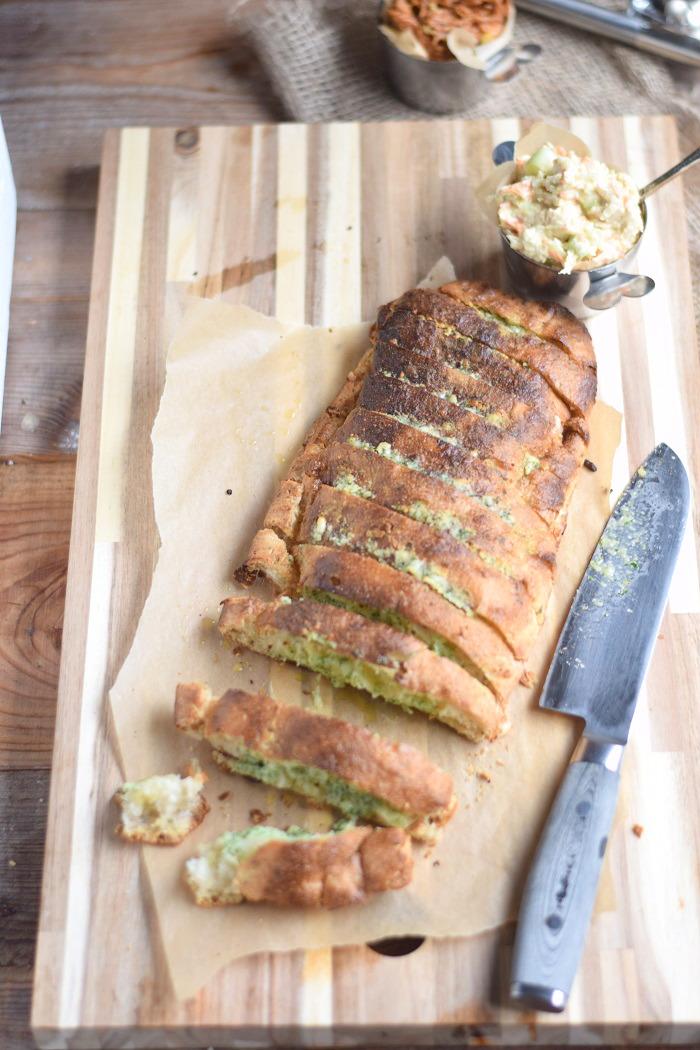 Ciabatta Baguette mit Knoblauch Kräuter Butter (8)
