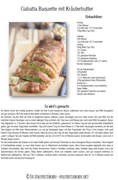 Ciabtta Knoblauch Kräuter Brot Rezept