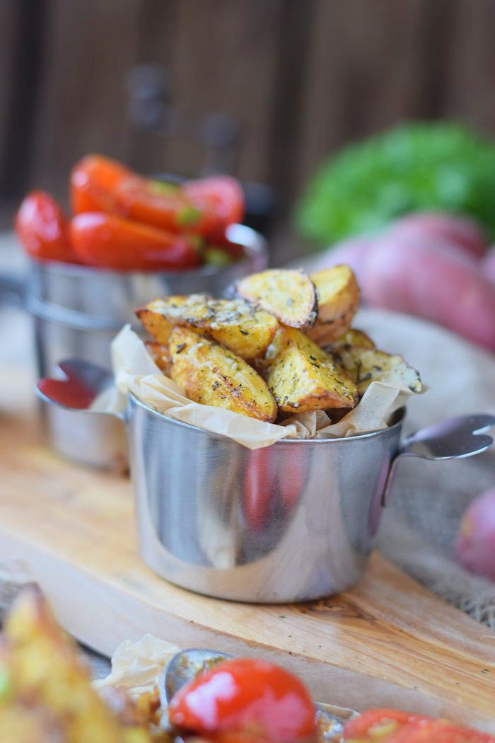 Ofenkartoffeln mit karamellisierten Tomaten 17