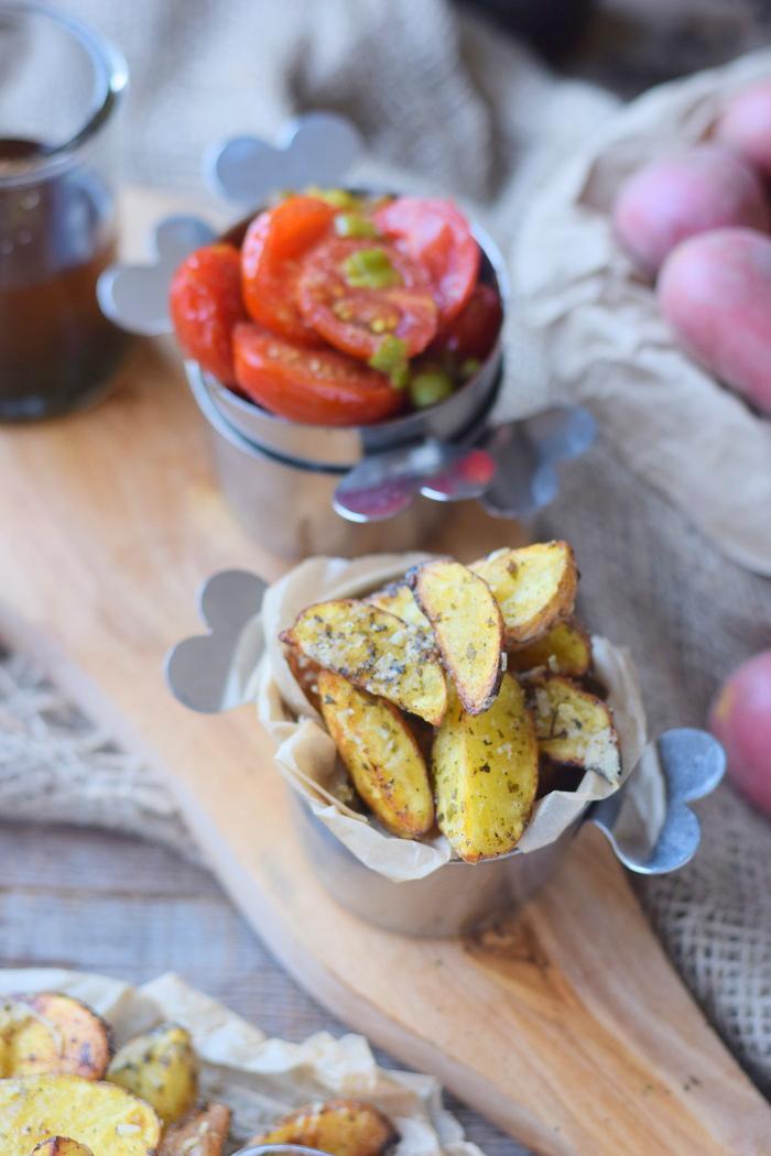 Ofenkartoffeln mit karamellisierten Tomaten 7