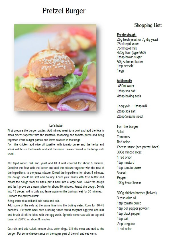 Pretzel Burger Recipe