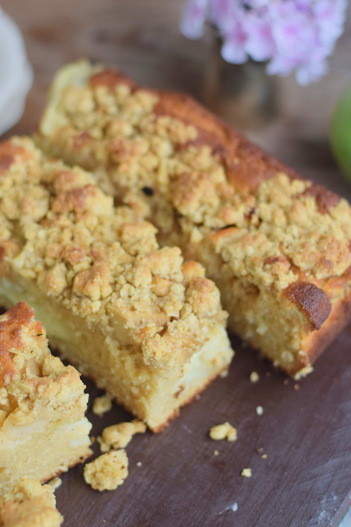 Apfelkuchen mit Pudding und Streuseln #herbst #food #cake (13)