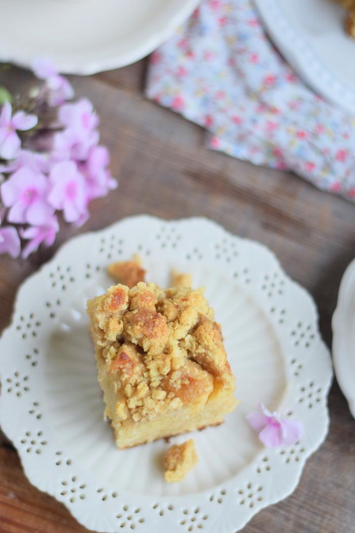 Apfelkuchen mit Pudding und Streuseln #herbst #food #cake (17)