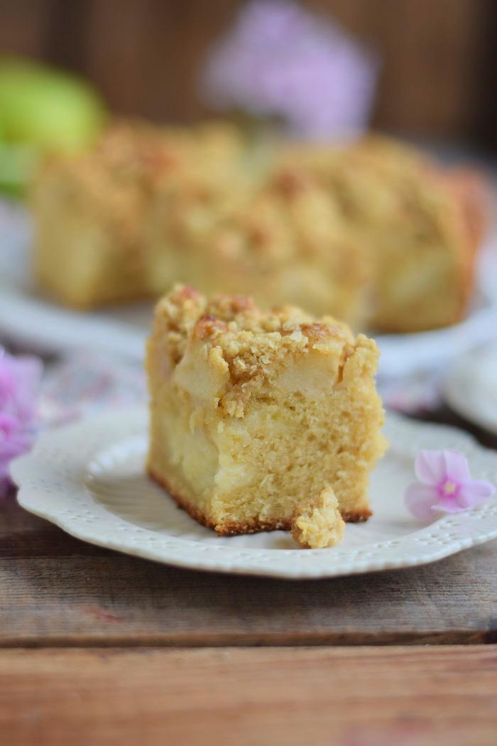 Apfelkuchen mit Pudding und Streuseln #herbst #food #cake (18)
