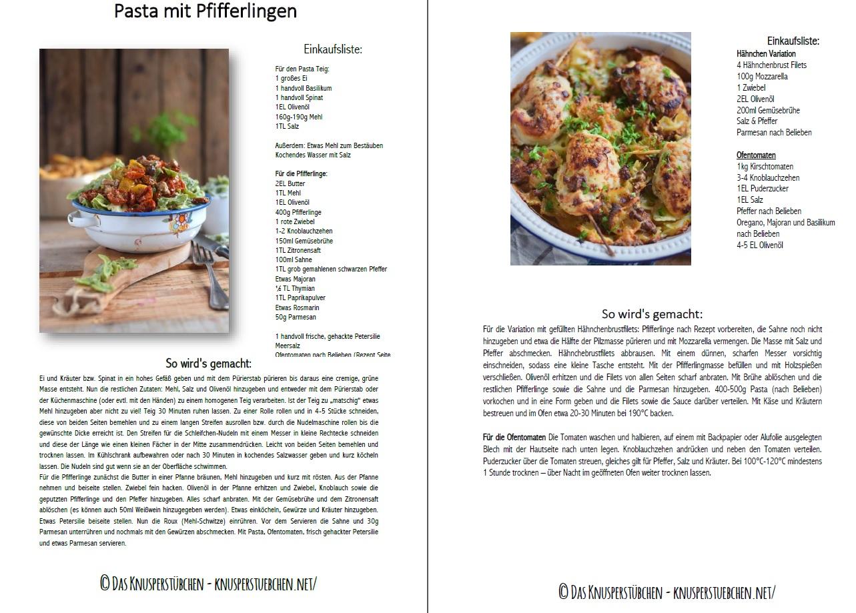 Basilikum Pasta mit Pfifferlingen Rezept